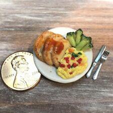Dollhouse miniature food Roasted Pork Loin with Vegetables 1:12
