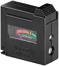 Goobay Battery tester black for standard batteries and all common button cells