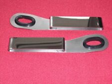 TRIUMPH SPITFIRE GT6 TR6 TR7 TR8 PAIR SEAT BELT GUIDES POLISHED STAINLESS STEEL