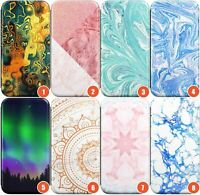 Marble 2 Wallet Flexible Phone Case for iPhone | Agate Onyx Rose Gold Cryst