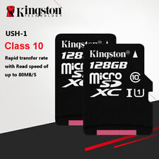 Kingston 128GB 80MB/S TF Flash MicroSDXC Memory Card Class10 UHS-I With Adapter