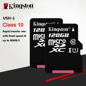 High Speed 128GB 80MB/S TF Flash MicroSD Memory Card Class10 UHS-I With Adapter