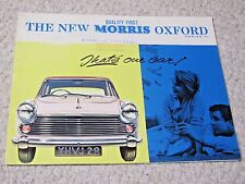 1961 MORRIS OXFORD (UK) SALES BROCHURE !!!