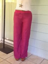 Cooper Key Over Lace Palazzo Pants Fully Lined Magenta Stretchy Soft Large NEW
