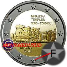 2 Euro Commémorative Malte BU Temple 2018 avec Poinçon F de la MDP