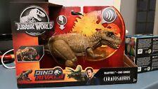 Ceratosaurus Jurassic World Fallen Kingdom Roarivores Park Mattel GHT11 EN MANO