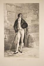 Gravure de 1911 par Godard d'ap.Meissonier un Incroyable,Mode masculine costume