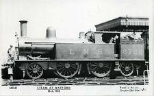 Pamlin M3341 repro photo postcard LMS Tank locomotive 6722 Watford 1932