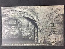 Vintage Postcard - London #C12 - RP Crypt , St Mary Le Bow Church Cheapside