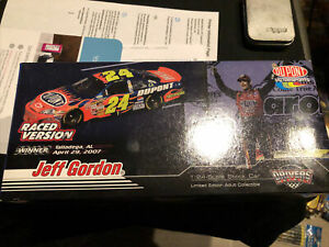 Motorsports Authentics 1:24 Jeff Gordon Talladega win Raced 07 1 Of 7777