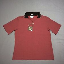 Outer Banks Women's SS Stay Clean Max Golf Polo Shirt Maroon Burgundy Size M NWT