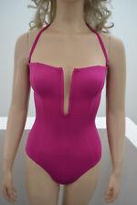Wolford Sirene Swimbody Bandeau Badeanzug Swimsuit lipgloss pink