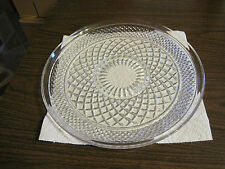 VINTAGE CLEAR GLASS ROUND SERVING PLATE