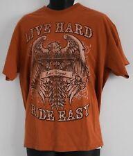 Vintage T-Shirt HARLEY DAVIDSON CAFE LAS VEGAS NEVADA USA Mens XL Burnt Orange