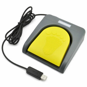 USB Foot Pedal Single Switch Control One Key Customized PC Keyboard Mouse HID US