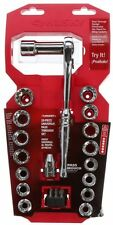 Husky 3/8 in Drive Universal Pass-Thru Set Hand Tool (28-Piece) Ratchet, Sockets