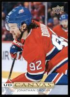 2019-20 Upper Deck UD Canvas #C21 Jonathan Drouin - Montreal Canadiens