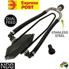 DUAL FEED STAINLESS STEEL OUTBOARD FLUSHER EAR MUFFS BOAT MOTOR WATER FASTPOST