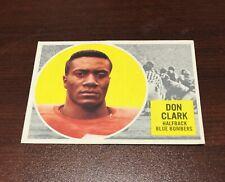 1960 Topps CFL #88 Don Clark Winnipeg Blue Bombers last card in set