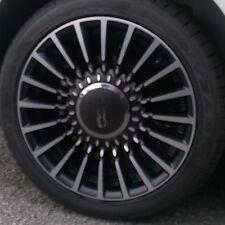 """CERCHIO IN LEGA 16"""" FIAT 500 ORIGINALE NERO OPACO DIAMANTATO 5ZZ sfrisato"""