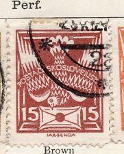 Tchécoslovaquie 1920 early question fine utilisée 15h. 077197