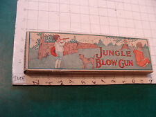 vintage Early JUNGLE BLOW GUN in box, w two darts early 1900's clean unused