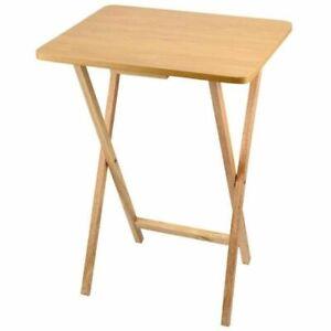 Anika 62090 Folding TV Table - Natural Wood
