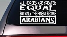 "Arabians all horses equal 6"" sticker *E573* show horses saddle stirrups shoes"
