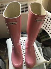 Hunter Original High Gloss Tall Rain Boots (women) Size 10 Pink