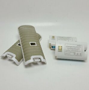 2 Nintendo Wii Nyko Rechargeable White Battery Packs + Nyko Battery Cover TESTED