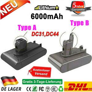 6,0Ah 22,2V Akku TypA/B für Dyson DC31 DC34 Animal DC44 DC45 917083-01 917083-09