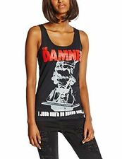 The Damned Vest Just Cant Be Happy Official Womens Black SKINNY Fit Top 12 Ph8789tvl