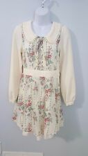 Penderie Japan Lolita Floral Long Sleeve Chiffon Dress Size XS/S