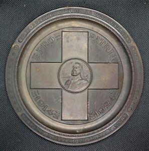 0008 - COUPELLE / DECORATION - 10ème anniv mobilisation PRO PATRIA - Genève 1924