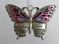 f Kindness is always in season BUTTERFLY WISHES Ornament stained glass look Ganz