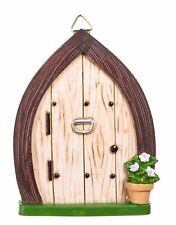 Fairy Door w Knocker & Hanging Hook DA 30007598 Miniature Fairy Garden