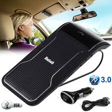 Hands free Multi point Wireless Bluetooth Speaker phone Car Kit Visor Clip