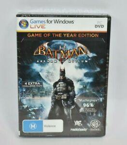 PC Batman Arkham Asylum Game Of The Year Edition New & Sealed Free Postage