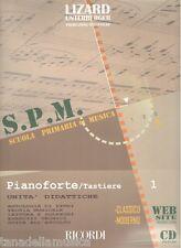 LIZARD - SCUOLA PRIMARIA DI MUSICA:PIANOFORTE-TASTIERE V.1 + CD unità didattiche