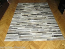 Patchwork Hairon Leather Rugs Cowhide Handmade Designer Luxury Home Carpets New
