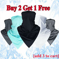 Cycling Sport BreathableTriangle Scarves Ice Silk Outdoor Headband Face Mask IR