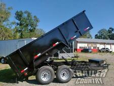 "New 2021 7x14 7 x 14 14K Gvwr Hydraulic Dump Trailer Equipment Hauler 36"" Sides"