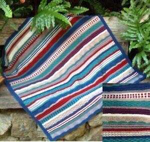 Baby Blanket knitting kit- inc yarn and pattern - sampler blanket.