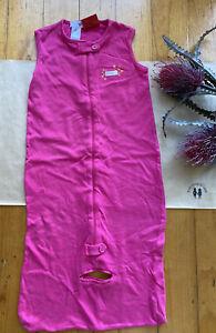 Target baby girl size 2 bright pink sleeping bag cotton, VGUC