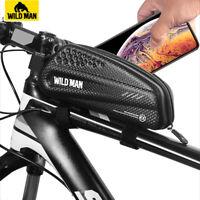 WILDMAN Road MTB Mountain Bike Front Frame Bag Waterproof Top Tube Cycling Bag