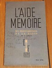 livre radio l aide mémoire des professionnels de la radio 41 pages plus planches