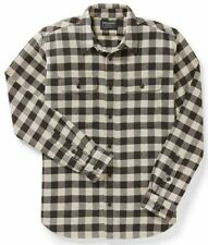 Filson Vintage Flannel Work Shirt - CHOOSE SIZE - 11010689 Chocolate White Cream