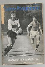 Orig.PRG Olympische Spiele BERLIN 1936 - 12.08. Handball / Schwimmen / Boxen /..