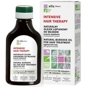 Elfa Pharm Natural Burdock Oil Against Hair Loss with Growth Activator 100 ml ,.
