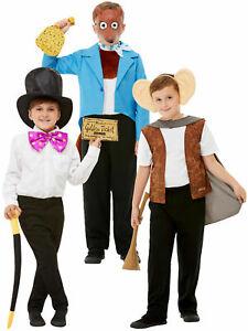 Kids Roald Dahl Fancy Dress Costume World Book Day Boys Girl Willy Wonka Fox BFG